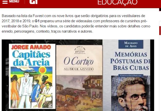 "G1 – Videoaula sobre o livro ""Mayombe"""