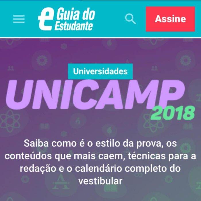 Guia do Estudante – Dossiê Unicamp