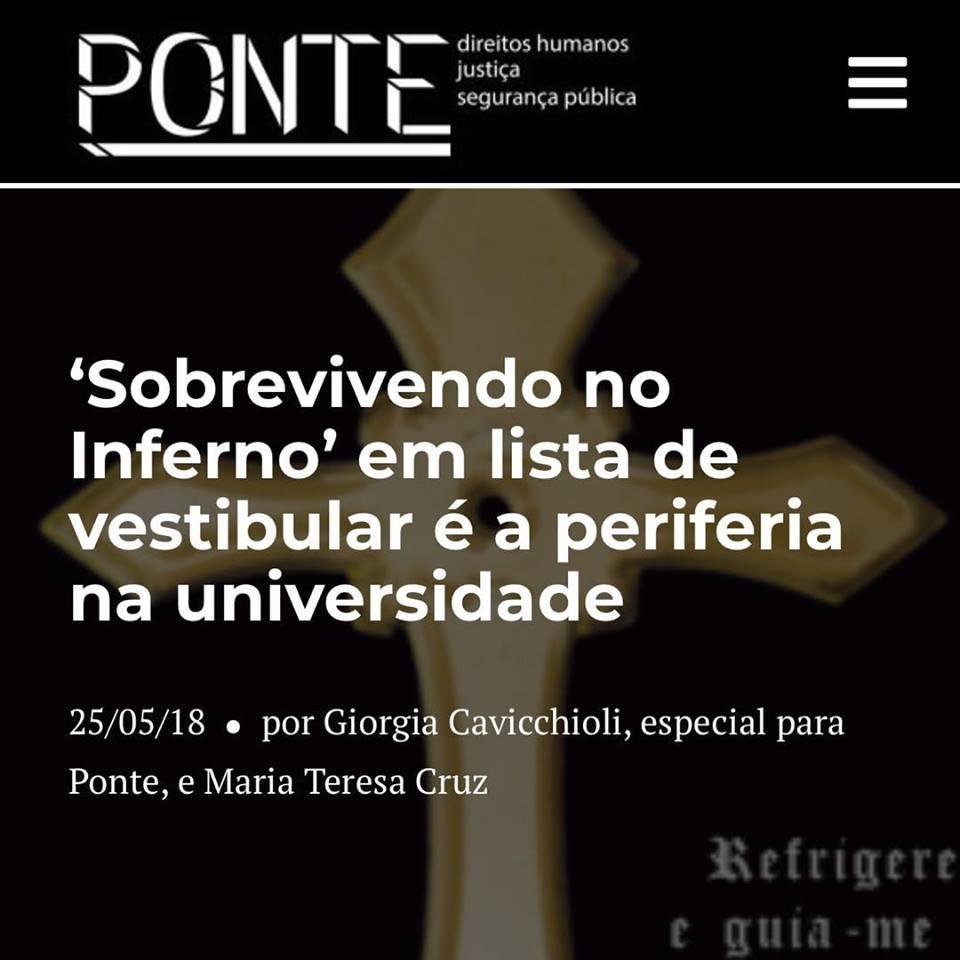 Ponte Jornalismo – Racionais é obra obrigatória do vestibular da Unicamp