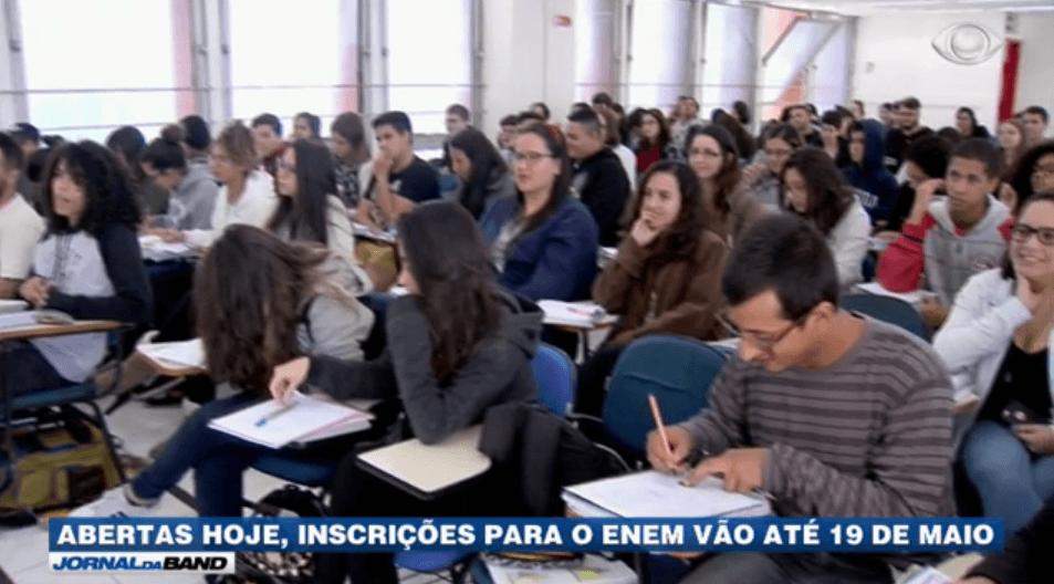 Jornal da Band – Enem está com inscrições abertas