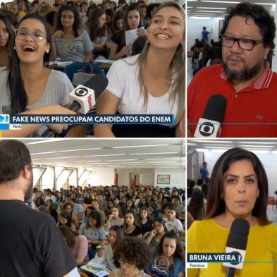 Tv Globo – Fake News preocupam candidatos do ENEM