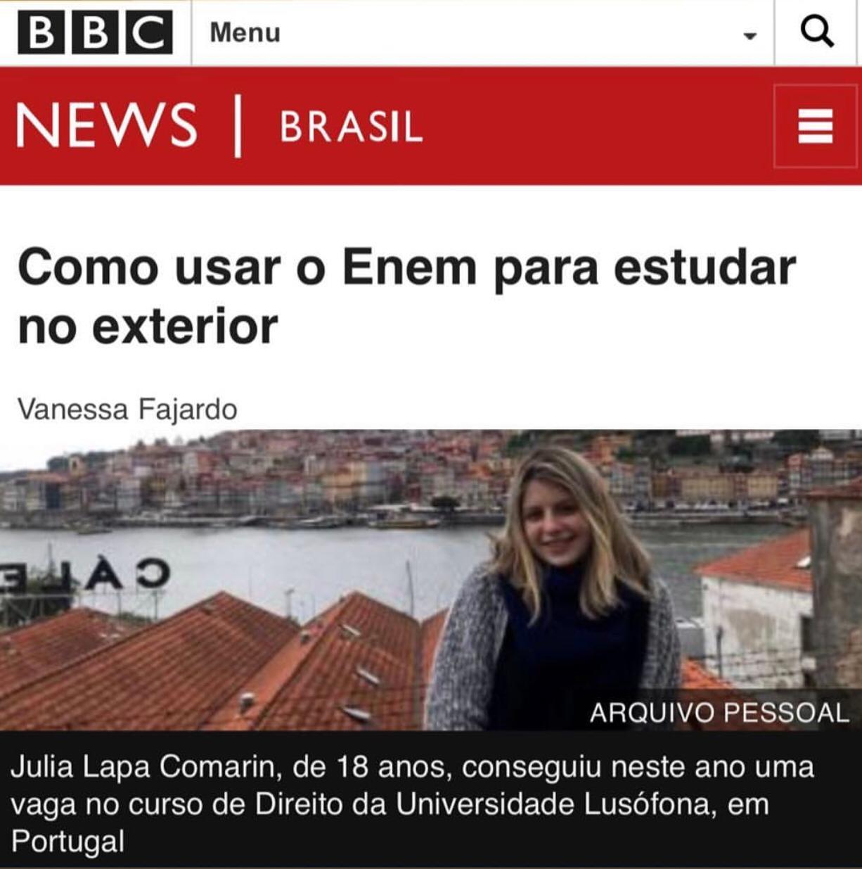 BBC – ENEM abre portas para universidades no exterior