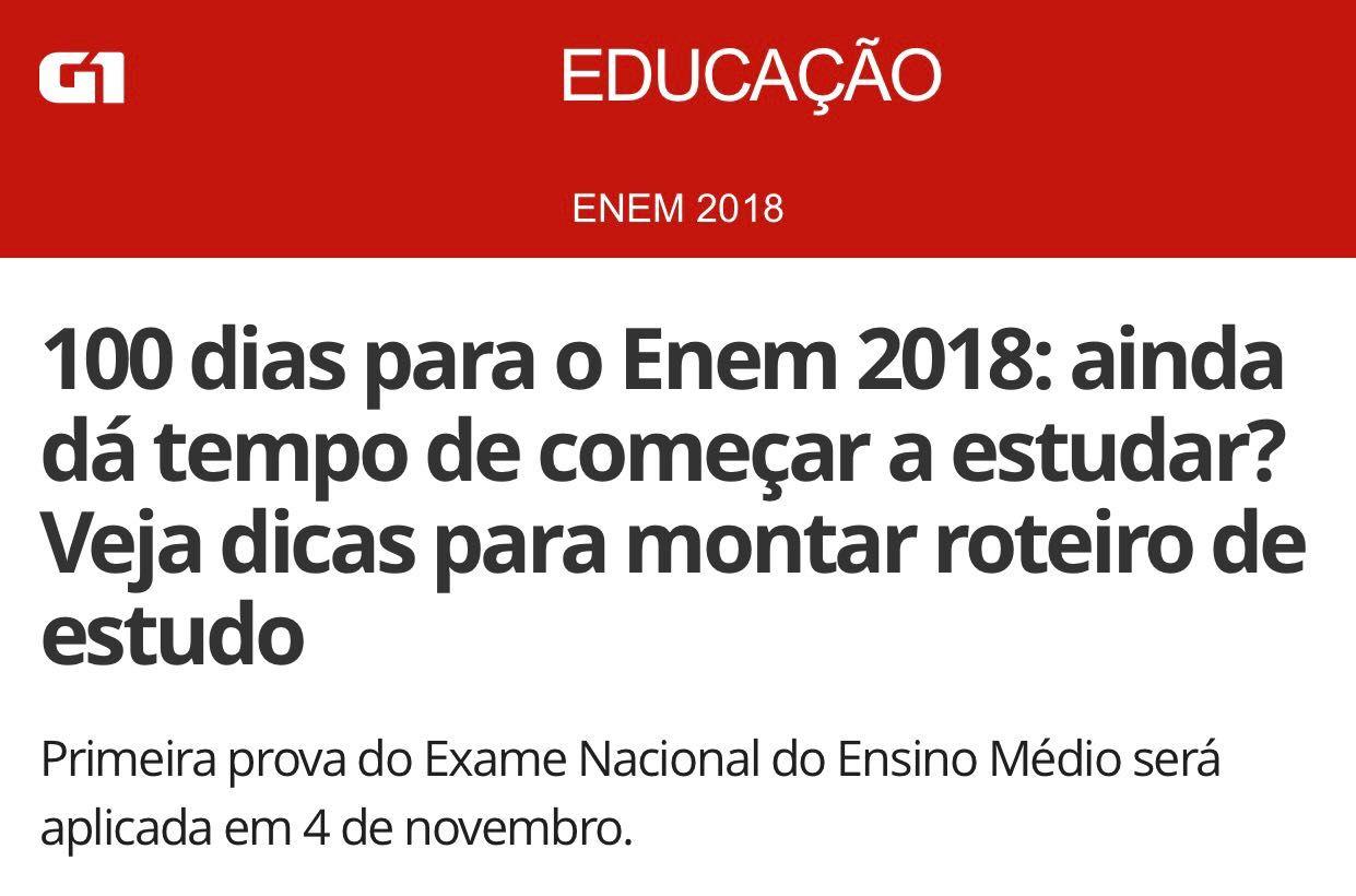 G1 – 100 dias para o ENEM 2018
